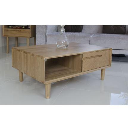 Scandic 3 X 2 Coffee Table - Solid Oak