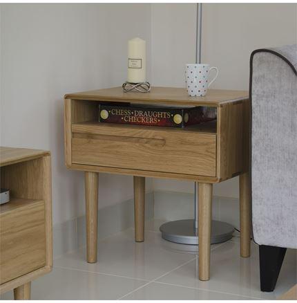 Scandic Lamp Table - Solid Oak