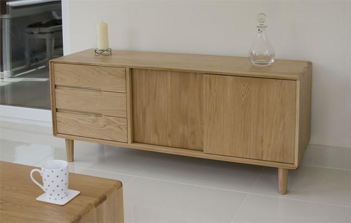 Scandic Wide Unit - Solid Oak