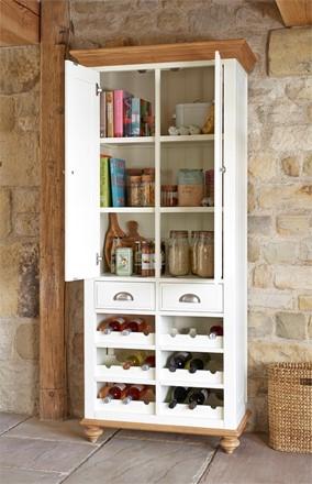 Special offer - Salisbury Larder Unit - Kitchen Cupboard with Wine Rack