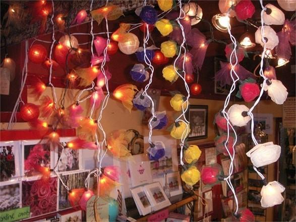 String of lights - Leaf Design