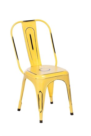 TOBY Metal Dining Chair - Yellow