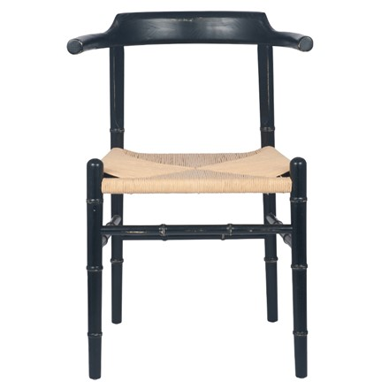 Wishbone style Chair - Antique Black Elm Wood
