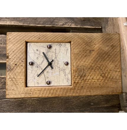 Wooden Clock with Dodworth map