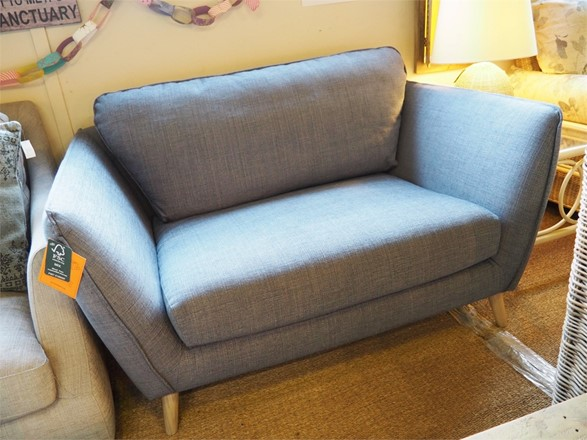 ex display Stella Wide Armchair by Sits - in Mattis Blue
