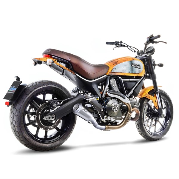 ducati scrambler 800 icon classic leovince lv 10 race slip on exhaust. Black Bedroom Furniture Sets. Home Design Ideas