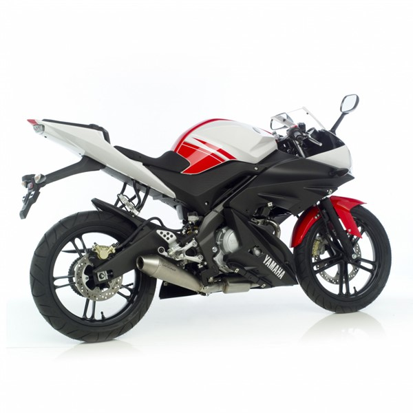 yamaha yzf r125 leovince gp style exhaust system. Black Bedroom Furniture Sets. Home Design Ideas
