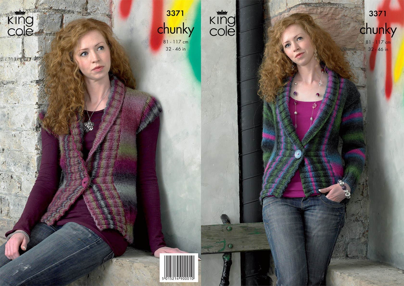 Download Knitting Patterns King Cole : King Cole Riot Chunky Jacket Pattern KC3371