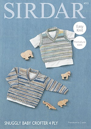 Sirdar Baby Crofter 4ply Pdf Downloadable Pattern S4712