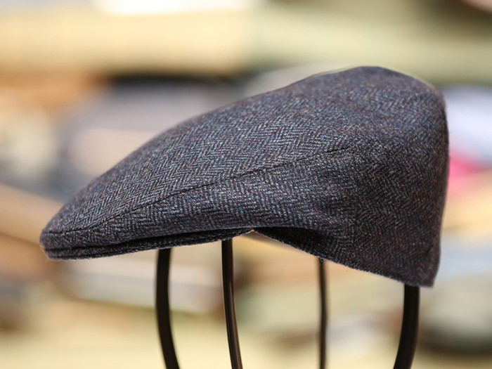 British made gifts. Hand Tailored Tweed Garforth Flat Cap Ribble Blue 4a90bacca45