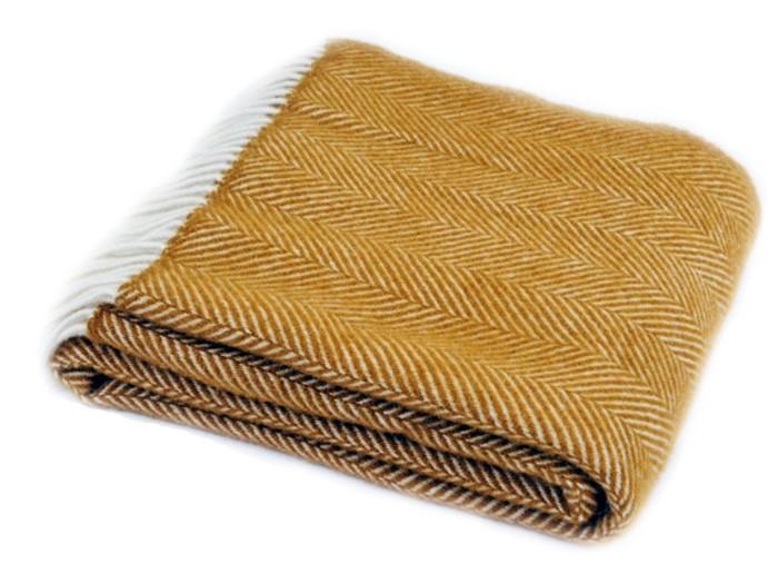 Wool Blanket Online British Made Gifts Herringbone Pure