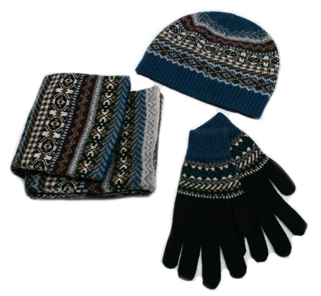 Wool Blanket Online. British made gifts. Lambswool Fairisle Beanie ...