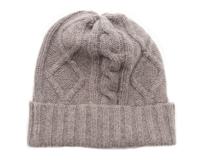 88440ad2324 Wool Blanket Online. British made gifts. Lambswool Ribbed Cable Knit Beanie  Hat - Natural