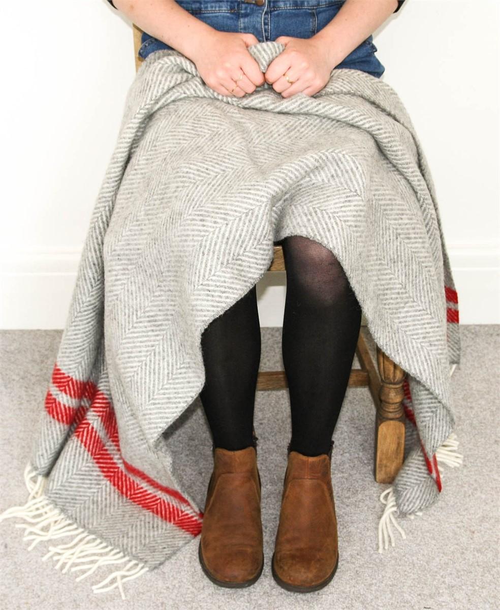 Wool Blanket Online. British Made Gifts. Herringbone 2