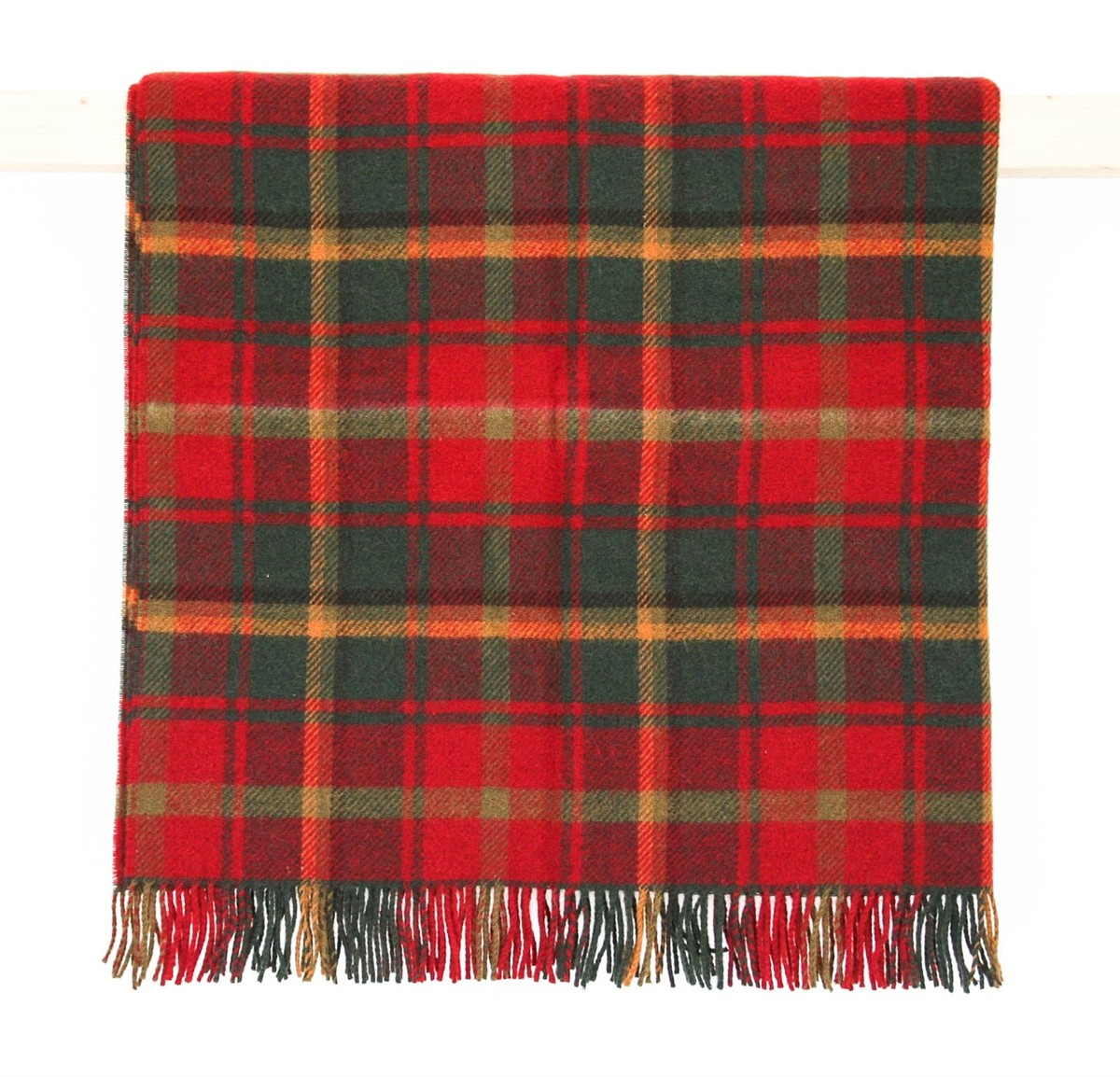 Wool Blanket Online British Made Gifts Dark Maple Tartan
